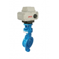 Quality Three Offset Hard Seal Electric Actuated Butterfly Valve for sale