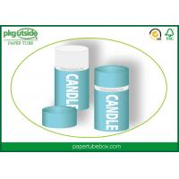 China Custom Printed Candle Packaging Boxes 100% Eco Kraft Stamping Logo Well - Sealing on sale