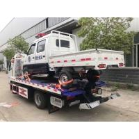 Quality Hydraulic Middle Duty Road Wrecker Truck / Small 4*2 Flatbed Tow Truck for sale