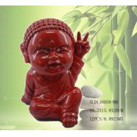 China Polyresin cute little monk statue on sale