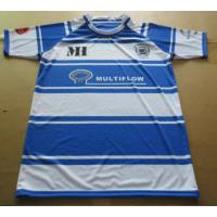 Quality Fashion Cotton Blue And White Striped Rugby Shirt with Customized Sizes for sale