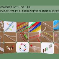 China Garments Accessories PVC PE EVA PP Transparent Plastic Zipper Plastic Sliders on sale