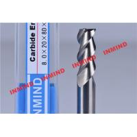 Quality 30º Helix Angle End Milling Cutter / Aluminum Cutting End Mills HRC50 Hardness for sale