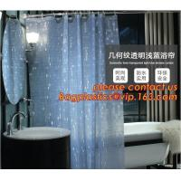 Quality Mould Proof Waterproof white and black trellis design pvc custom bath curtain printed shower curtain, High quality Polye for sale