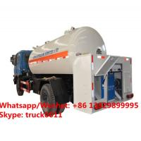 China HOT SALE! Customized dongfeng 4*2 LHD 10,000Liter lpg gas dispensing truck for domestic cylinders, lpg gas filling truck on sale