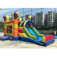 China 4 in 1 Rainbow Commercial Inflatable Bounce Houses Jump N Slide Bouncer wholesale