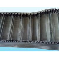 Quality Large Inclined Curved Conveyor Belt , Wave Shaped Heavy Duty Conveyor Belt for sale