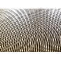 Quality Bronze Decorative Wire Mesh Architecture Crimped Metal Mesh For Elevator Cabins Screen for sale
