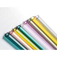 Quality Colored Straight Glass Drinking Straws , High Borosilicate Glass Straws for sale