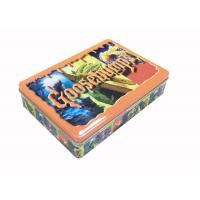 Quality Embossed Lid Gift Tin Box Rectangle Shaped For Halloween Holiday for sale