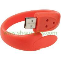 Buy cheap Wrist Rubber Strap with U Disk, USB Flash Drive, USB Momory from wholesalers