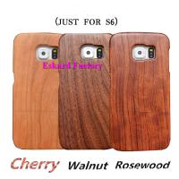 China Classic Retro Wood Phone Cases For Samsung Galaxy S6 Back Cover Genuine Natural Wood Phone Cover With Wholesale Price on sale