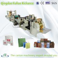 China Roll Square Bottom Automatic Shopping Paper Bag Making Machine on sale