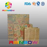 China Brown Kraft Paper Bag Customized Printing With Drawstring for Gift / Shopping on sale