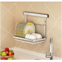 Quality Dish And Bowl Wall Mounted Kitchen Storage Rack No Drilling Installation for sale