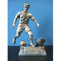 Quality polyresin football player,resin figurine,sport trophy for sale