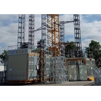 Quality TUV Rack Pinion Lift 450m 2 Ton 60m/Minute Speed Construction Site Elevator for sale