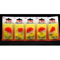 Buy Contrast Color 100% Handmade Number Candle with Red and Yellow Coloring at wholesale prices
