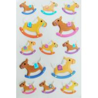 Safe Nontoxic 3D Foam Stickers Removable Lovely Riding Horse For Kids