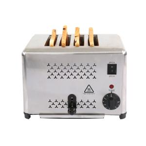Quality Stainless Steel 4 Slice 1800w Bread Toaster Machine for sale