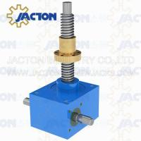 China worm electric transmission gearbox jack with hollow jack base worm electric transmission gearbox jack with steel prop on sale