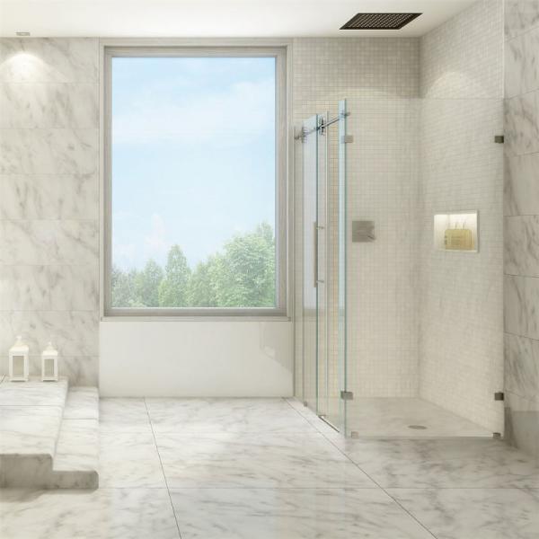 Stainless Steel Frameless Sliding Shower Glass Door Shower Enclosure
