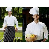 Quality Long Sleeve Custom Work Shirts , Double Breasted Side Open Chief Cook Uniform for sale