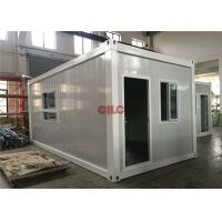 Quality PU Panel Flat Pack Prefab Container Homes Easy Assemble Energy Saving for sale