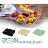 Quality Disposable corn starch plates biodegradable corn starch food container, Disposable PLA Serving Divided Lunch Tray for sale