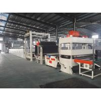 Quality Bitumen Backed Carpet Tiles Production Line Contious With Slitting Cutter for sale