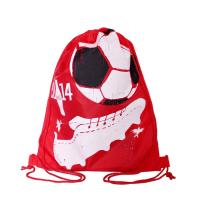 Quality Full Side Printed Polyester Drawstring Backpack , Outdoor Gym Sports Backpack for sale
