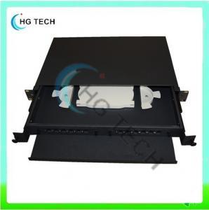 Quality 19inch 1u 24 Port Fiber Optic Patch Panel Sliding Type for sale