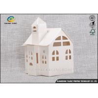 China Candy / Cookie Folding Gift Boxes Special House Shaped Strictly Quality Control on sale
