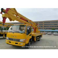 Quality Hydraulic Rising Truck Mounted Aerial Platform , 16-18 Meter High Altitude Trucks for sale