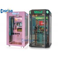 Quality Booth Coin Operated Karaoke Machine 2 Players Hardware Tempered Glass Material for sale