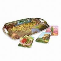 Quality Melamine Breakfast Set, Cartoon Design Serving Tray and Plate for sale