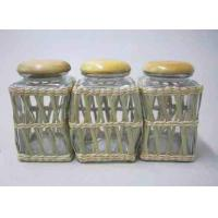 Quality vms118Glass-Jars-with-Grass-Weave for sale