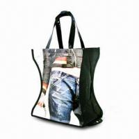 Quality Nonwoven PP Fabric Foldable Tote Bag with Lamination and Full Color Imprint for sale