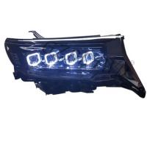 China RGB Angel Eye LED Headlights For Toyota Land Cruiser Prado GXL PW Fj150 2018 2019 on sale
