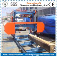 China Horizontal Band Saw Mill Electric/Diesel Engine Powered Wood Cutting Bandsaw Mill Portable wholesale