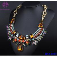 Buy cheap Fashion Colorful crystal Graceful Gold Color Chain Choker Women Necklace from wholesalers
