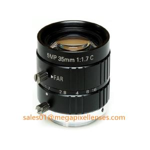 """Quality 2/3"""" 35mm F1.7 5Megapixel Manual IRIS C Mount Industrial FA Lens, 35mm 5MP Non Distortion Industrial Lens for sale"""