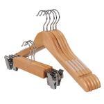 Quality Best cheap chrome hooks non-slip natural wood kids hanger with logo for sale