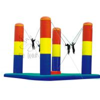 Quality CE approved 4 pillars inflatable bungee, bungee jumping inflatable trampoline for sale for sale