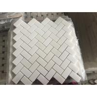Quality Royal White Square Marble Floor Tiles Mosaic For Modern Decoration New Design White Royal Botticino Stone Mosaic for sale