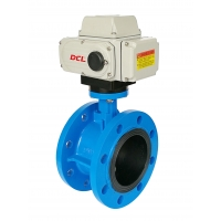 Quality Al Alloy DC24V Electric Flanged Butterfly Valve with CSA / CE / UL for sale