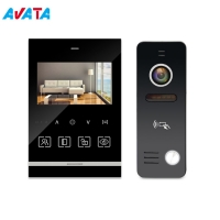 "Quality Home Security AHD 4.3"" Memory Video Door Phone Video  Intercom system support PIR sensor for sale"