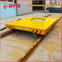 Quality Heat Resist Electric Material Handling Cart , Flat Load Transfer Trolley for sale