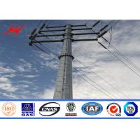 China Single - Circuit Linear Electric Power Pole Conical / Round For Transmission Line on sale