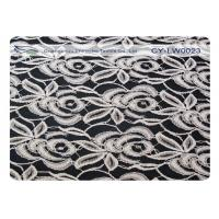 China Elastic Cotton Nylon Lace Fabric For Underdress 30% Nylon + 70% Cotton CY-LW0023 on sale